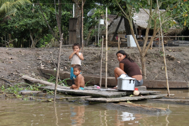 A family living in Peru's Amazon jungle