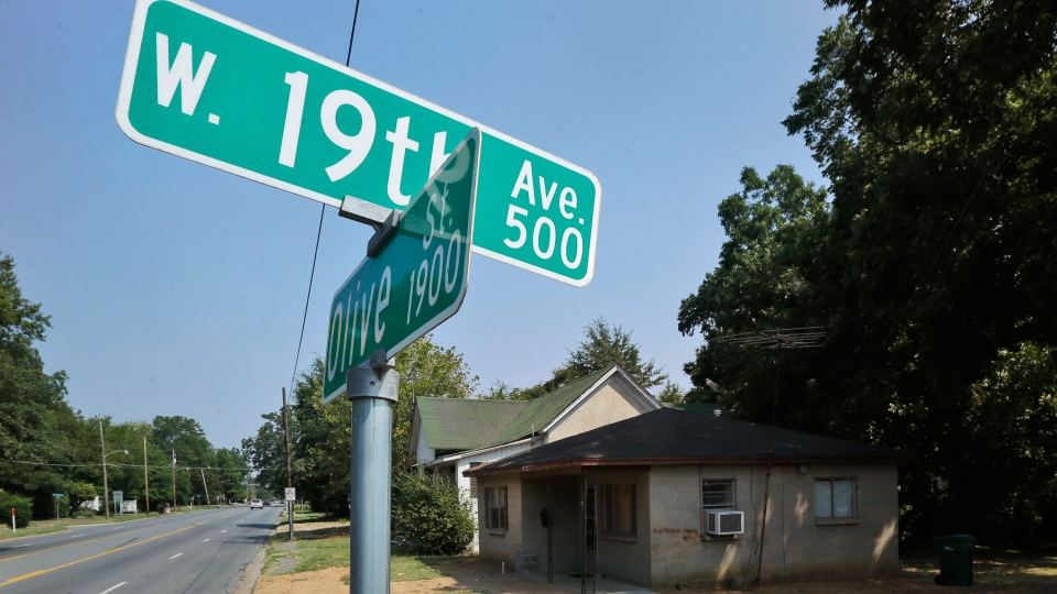 A house where Monroe Isadore once lived sits near an intersection in Pine Bluff, Ark. on Monday, Sept. 9, 2013. (AP / Danny Johnston)