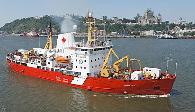 The coast guard icebreaker Amundsen is dedicated to science and research projects in the summer (Photo: Dept. of Fisheries and Oceans)