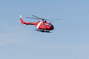 A Coast Guard flies over Frobisher Bay in this file photo. (Adrian Wyld / THE CANADIAN PRESS)