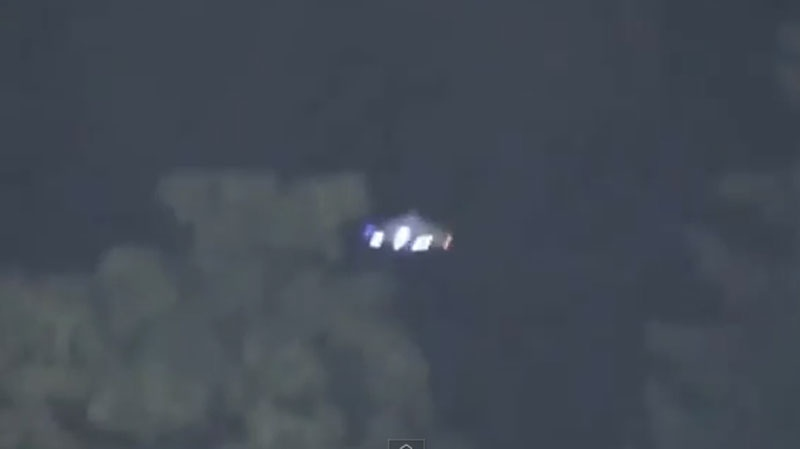 An unidentified flying object was spotted near Nat Bailey Stadium in Vancouver on Sept. 4, 2013. (YouTube)
