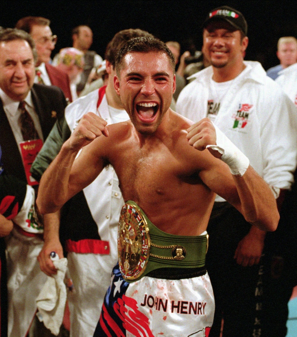 Oscar de la hoya dating history