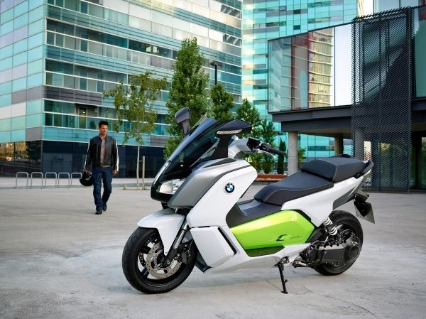 The C Evolution is a zero-emissions maxi scooter