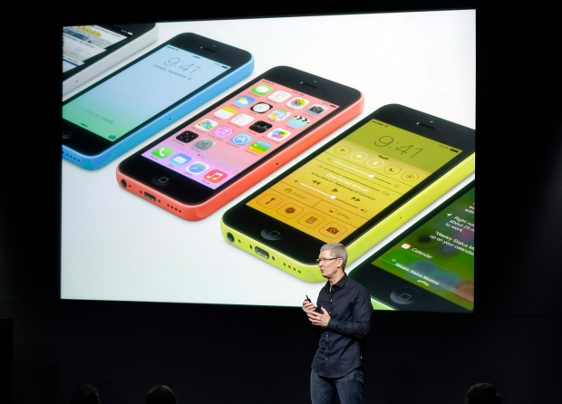 Apple CEO Tim Cook introduces iPhones 5S, 5C