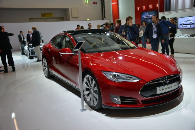 Tesla Model S at the Frankfurt Motor show