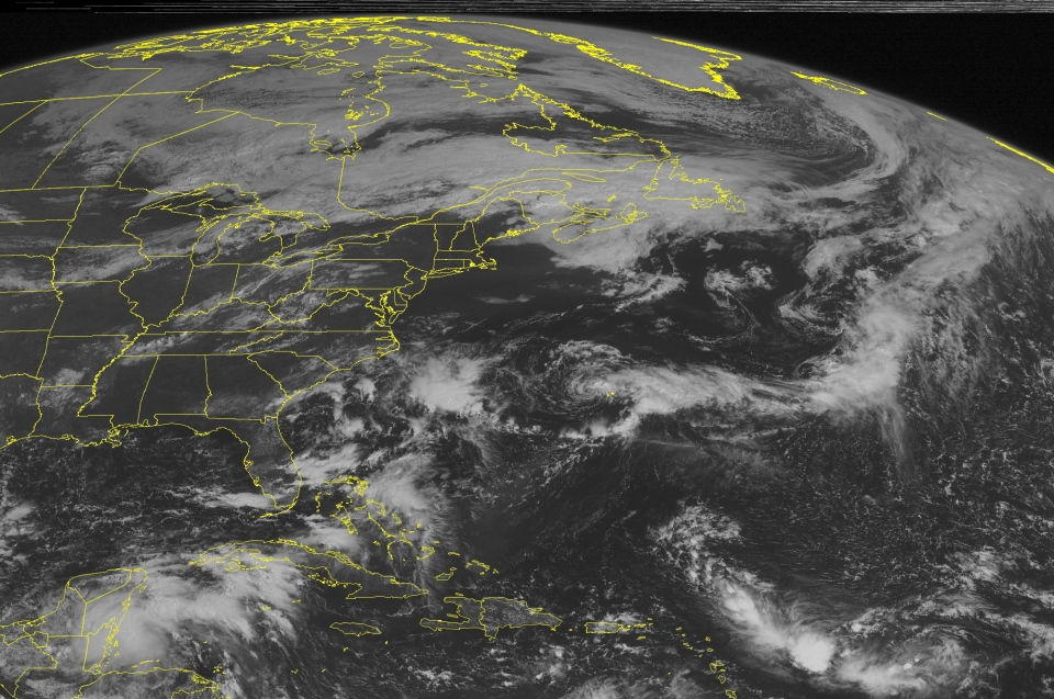 This NOAA satellite image taken Wednesday, September 11, 2013 at 10:45 AM EDT shows showers and thunderstorms across the Northeast, Mid-Atlantic and Central Appalachians ahead of an approaching cold front.  (WEATHER UNDERGROUND)