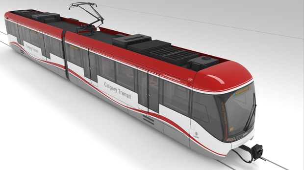 The Bow CTrain design concept is one of three options Calgarians can select in a late September vote.