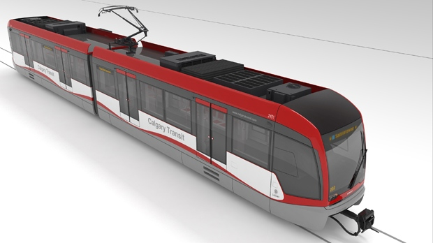 The Buffalo CTrain design concept is one of three options Calgarians can select in a late September vote.