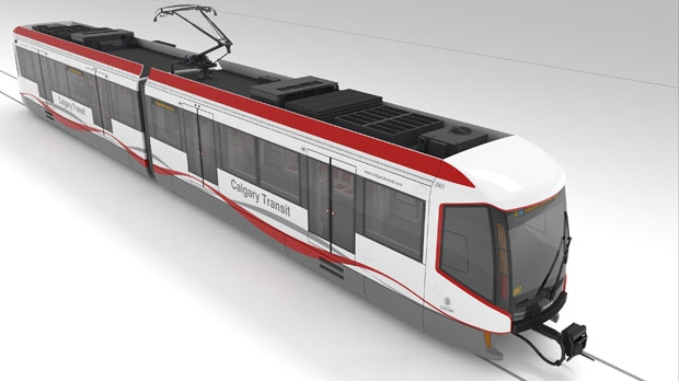 The Mask CTrain design concept is one of three options Calgarians can select in a late September vote.