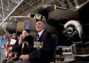 Bomber Command veteran Charles Ed Callas