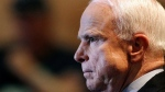 U.S. Senator John McCain, R-Ariz., listens during a town hall meeting at the Burton Barr Central Library on Thursday, Sept. 5, 2013, in Phoenix.  (AP / Ralph Freso)