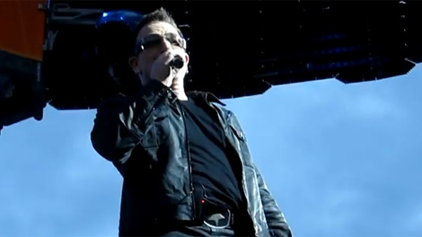 U2 singer Bono tells of a chance encounter with Edmonton Oiler Gilbert Brule at a concert Wednesday night. June 1, 2011. (YouTube)