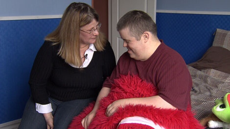 Helen Creamore has had to quit her job to take care of her 26-year-old son, Jake. June 2, 2011. (CTV)