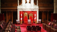 The Senate Chamber sits empty shortly before the 2011 Throne Speech on Parliament Hill in Ottawa, Friday June 3, 2011. (Sean Kilpatrick / THE CANADIAN PRESS)