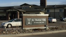Mice nibbling at demetia patient's face Alberta