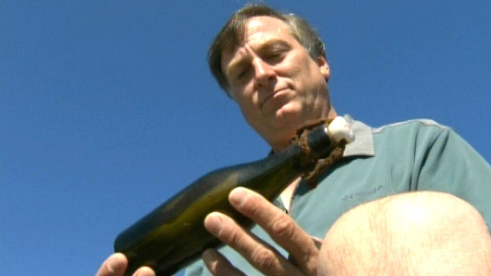 A British Columbia man has discovered what could be the oldest message in a bottle ever found.