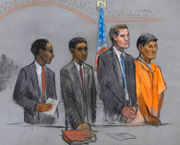 Boston bombing suspect's friends in court