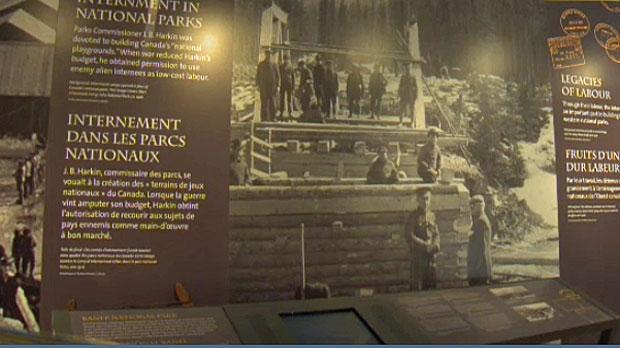 First World War exhibit, Banff National Park, Cave