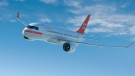 A PrivatAir livery on a Bombardier CSeries CS100 aircraft is shown in this handout artist's rendering. The Swiss company that provides private charter services, including exclusively business class flights for major airlines, will buy five to 10 Bombardier CSeries jets in a deal worth up to $636 million, based on list prices. THE CANADIAN PRESS/HO, Bombardier