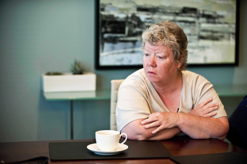 Patricia Seth, a former Huronia Regional Centre resident and plaintiff in the class action proceeding against the Ontario government, is interviewed in Toronto on Sept. 11, 2013. (Galit Rodan / THE CANADIAN PRESS)