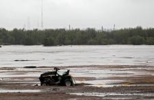 Flooded farm near Greeley, Coloradi