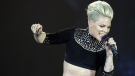 Singer Pink performs on stage during her The Truth About Love Tour in Zurich, Switzerland, Tuesday, May 21, 2013. (Keystone/ Walter Bieri)
