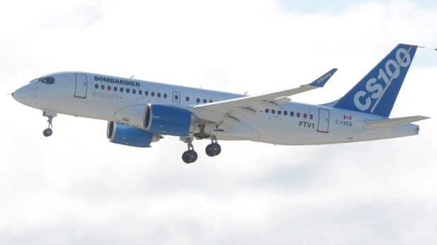 Bombardier's C-Series jet takes off