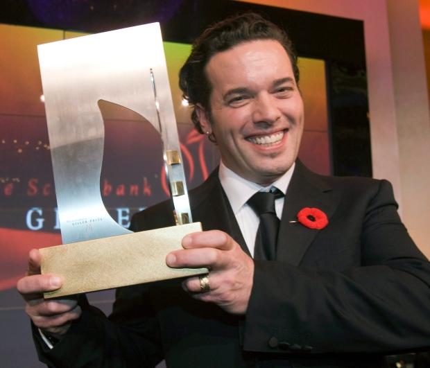 Joseph Boyden holds the Giller Prize