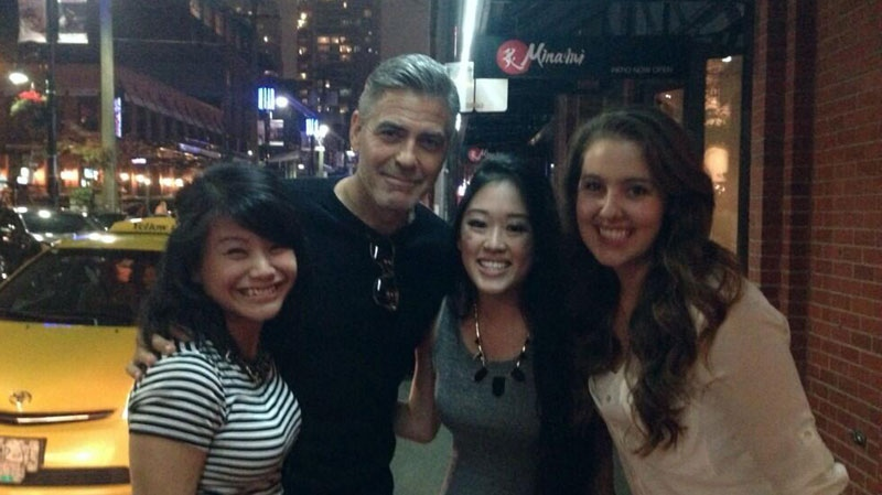Celebrity George Clooney was spotted at Minami Restaurant in downtown Vancouver on Saturday, Sept. 14, 2013. (Twitter user @julianadriane)