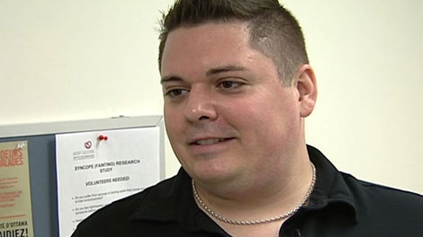 Benoit Richer, 33, is lucky to be alive after his aorta burst. A series of events helped save his life.