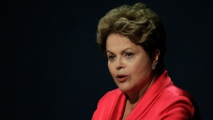 Brazil's President Dilma Rousseff speaks during a ceremony in Brasilia, Brazil, Tuesday, Sept. 17, 2013. (AP / Eraldo Peres)