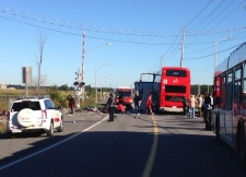 Via Rail train collides with Ottawa bus