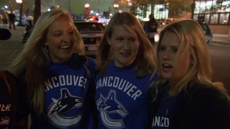 These Vancouver Canucks fans say they were pelted by pepper in Boston. June 7, 2011. (CTV)