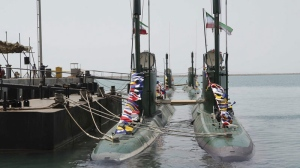 This is a photo released by the Iranian Defense Ministry which they claim shows Iran's Ghadir submarines in the southern port of Bandar Abbas in Persian Gulf, Iran, Sunday, Aug. 8, 2010.