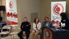 The premier, mayor and police chief were at the SORCe announcement on Thursday, Sept 19, 2013.
