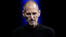 Apple CEO Steve Jobs gives the keynote address to the Apple Worldwide Developers Conference in San Francisco, Monday, June 6, 2011. (AP / Paul Sakuma)