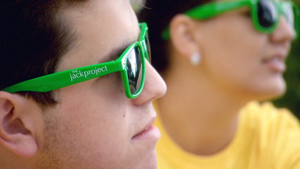 When first-time university students arrived at the Queen's University campus this fall, they each received a pair of sunglasses from 'The Jack Project' with a website that discusses mental health issues and directs those who feel they may need help to the appropriate resources printed on the side.