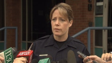 Vancouver police spokeswoman Const. Jana McGuinness announces Immigration and Refugee Protection Act charges against a Vancouver couple accused of forcing a Filipino woman into domestic servitude. June 8, 2011. (CTV)