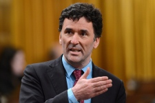 NDP MP Paul Dewar asks a question during question period in the House of Commons on Parliament Hill in Ottawa on April 26, 2013. (Sean Kilpatrick / THE CANADIAN PRESS)