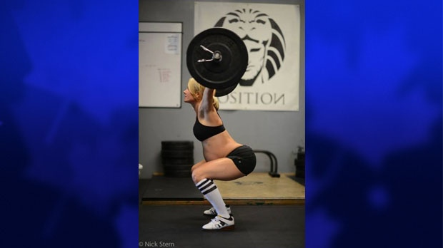 This photo of Lea-Ann Ellison is take from CrossFit's Facebook page. (Nick Stern/CrossFit/Facebook)