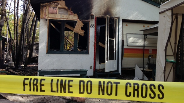 Fire officials believe an electrical problem in one of the trailers caused the blaze at Chelsey's Resort in Petersfield.
