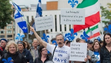 Pro-Charter rally in Montreal