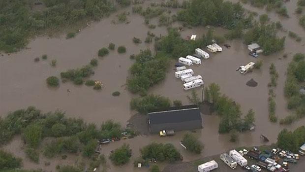 Flooding damage in Alberta