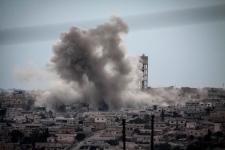 Syria smoke rises