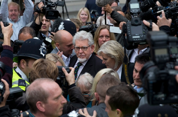 Rolf Harris leaves Westminster Magistrate's Court.
