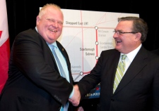 Jim Flaherty Rob Ford subway Scarborough