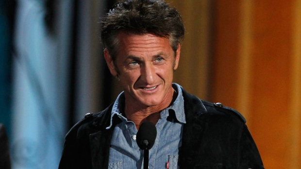 Sean Penn accepts the guy movie hall of fame award for 'Fast Times at Ridgemont High' at the Spike TV Guys Choice Awards on Saturday, June 4, 2011, in Culver City, Calif. (AP / Matt Sayles)