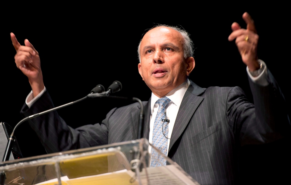 Fairfax Financial Chairman and CEO Prem Watsa speaks at the company's annual general meeting in Toronto on Thursday, April 11, 2013. (Frank Gunn / THE CANADIAN PRESS)