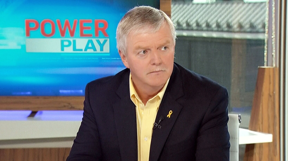 Former Chief of the Defence Staff of the Canadian Forces Rick Hillier appears on CTV's Power Play in Ottawa, Ont. on Monday, Sept. 23, 2013.
