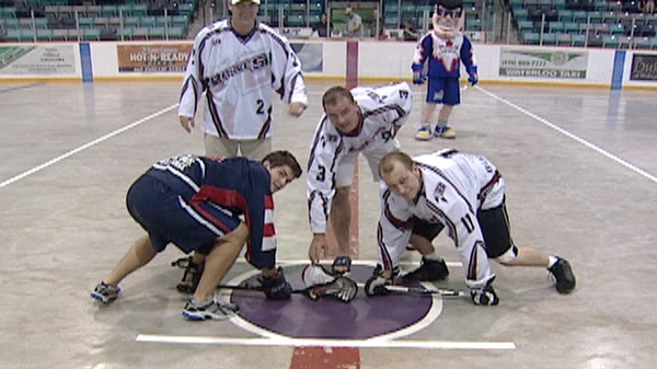 Kitchener native Colin Doyle and Guelph's Bob Watson were recognized by the K-W Braves at the Waterloo Rec Complex on Thursday, June 9, 2011.